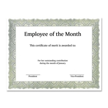 Employee Recognition Certificate