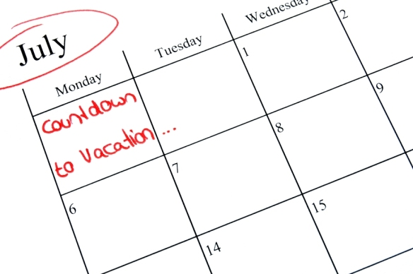 Vacation Schedule Calendar