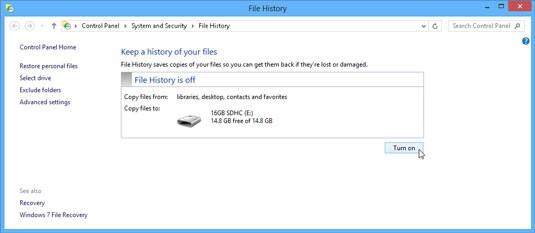 Windows Backup Steps - History