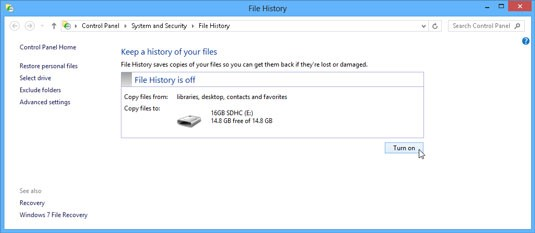Windows Backup Steps - History