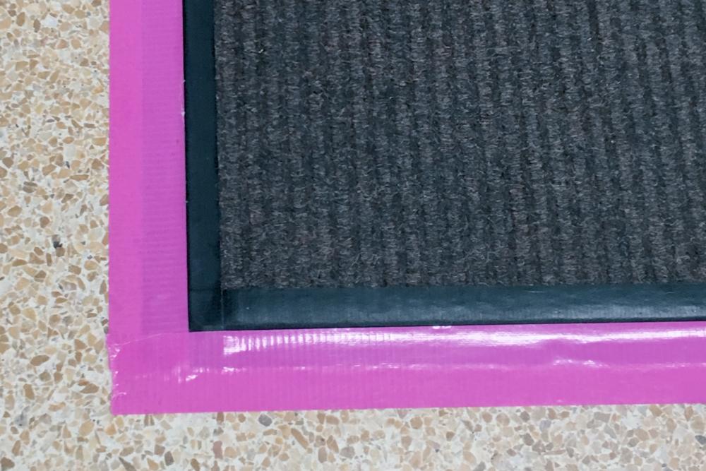 tape down mat